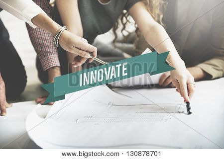 Innovate Fresh Ideas Invention Progress Concept