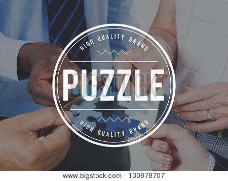 Puzzle Solving Confuse Connect Problem Solution Concept