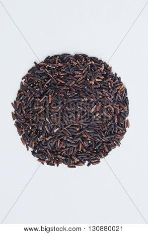 Deep Purple rice Homnil rice Homnin rice Fragrance black rice isolated