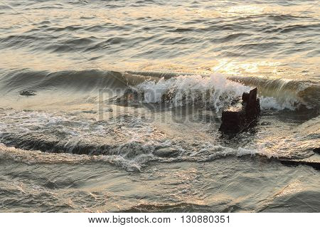 Movement Of Water Texture And Wave