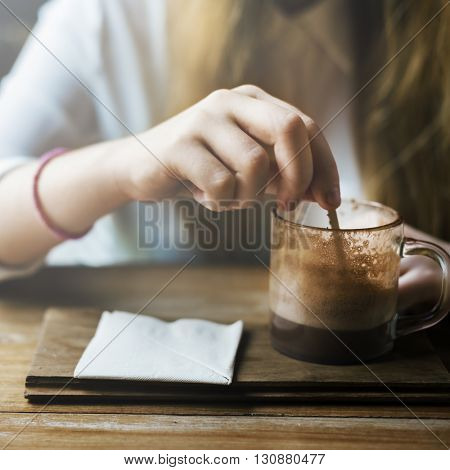 Beverage Drinking Calm Cafe Chilling Leisure Concept