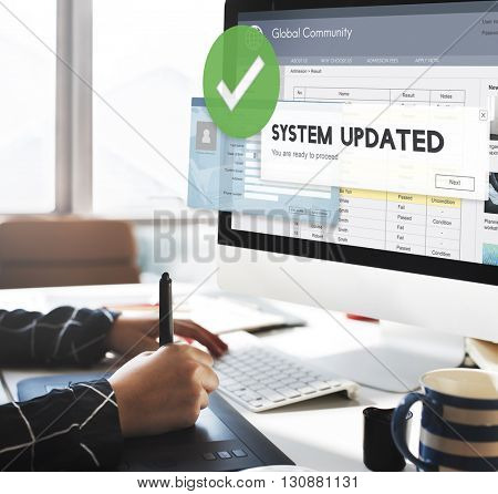 System Updated Improvement Change New Version Concept