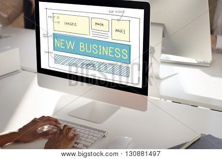 New Business Start up Planning Vision Goals Concept