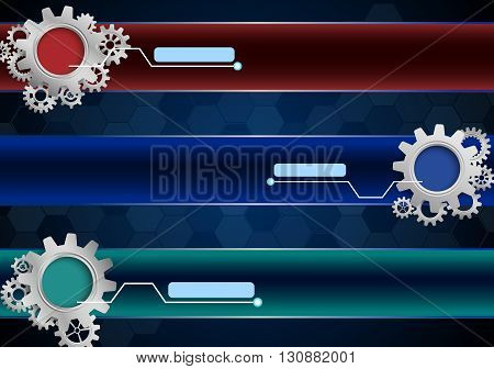 Vector illustration of Abstract background with gears