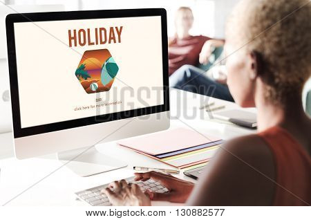 Holiday Vacation Leisure Homepage Concept