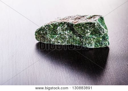 Fuchsite Stone On Wood