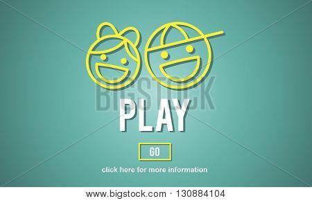 Play Fun Amusement Happiness Activity Playground Concept