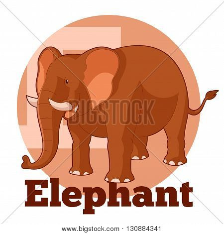 Vector image of the ABC ABC Cartoon Elephant