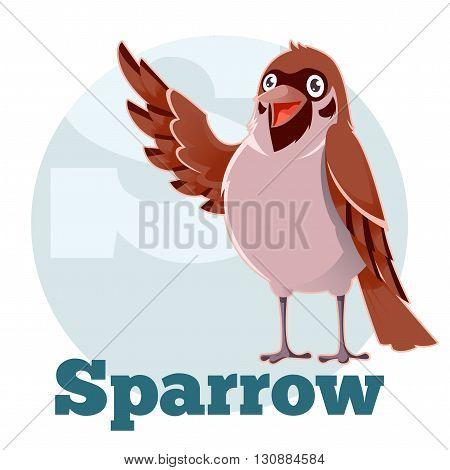 Vector image of the ABC Cartoon Sparrow