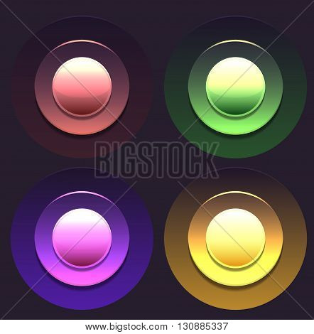 Set of multicolored buttons. Vector element for web sites banners and your design