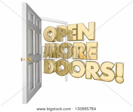 Open More Doors New Opportunities Word 3d Animation