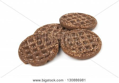 dessert chocolate cookies isolated on white background