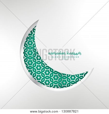 islamic ramadan festival creative moon design vector design illustration