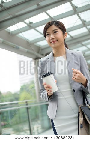 Asian businesswoman at outdoor