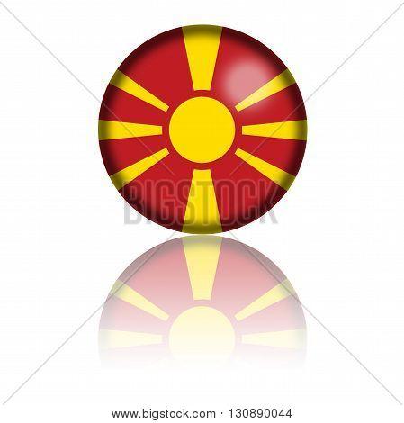 Macedonia Flag Sphere 3D Rendering