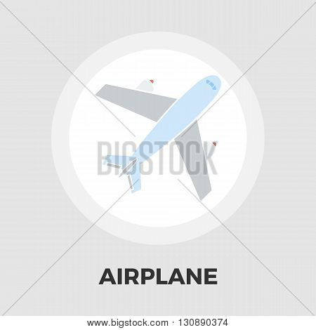 Airplane Icon Vector. Flat icon isolated on the white background. Editable EPS file. Vector illustration.