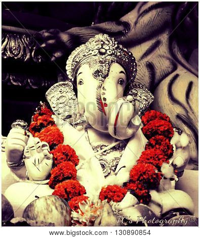 also known as Ganapati and Vinayaka, His image is found throughout India, Sri Lanka and Nepal