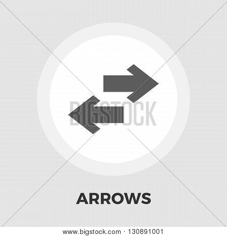 Arrow icon vector. Flat icon isolated on the white background. Editable EPS file. Vector illustration.