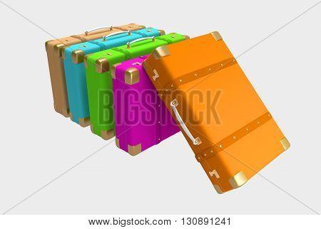 Color Elegant Suitcases