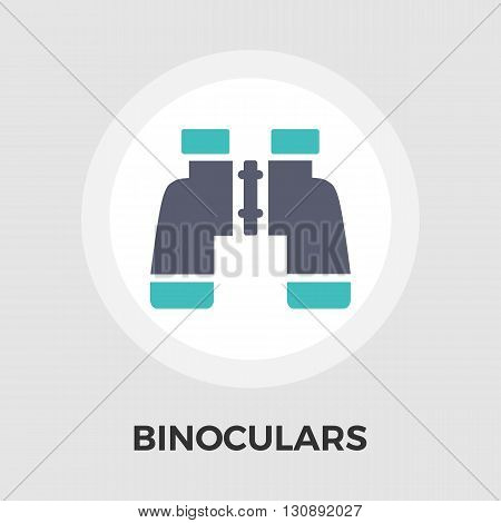Binoculars Icon Vector. Flat icon isolated on the white background. Editable EPS file. Vector illustration.