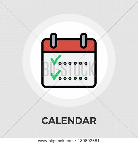 Calendar whit check icon vector. Flat icon isolated on the white background. Editable EPS file. Vector illustration.