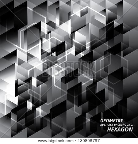Geometry Abstract Background Pattern Hexagon Vector Illustration