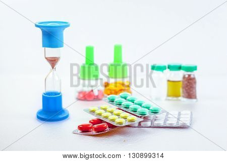 Take medicine on time medication for the treatment of disease