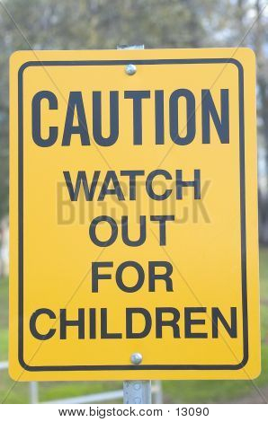 Caution Children Sign