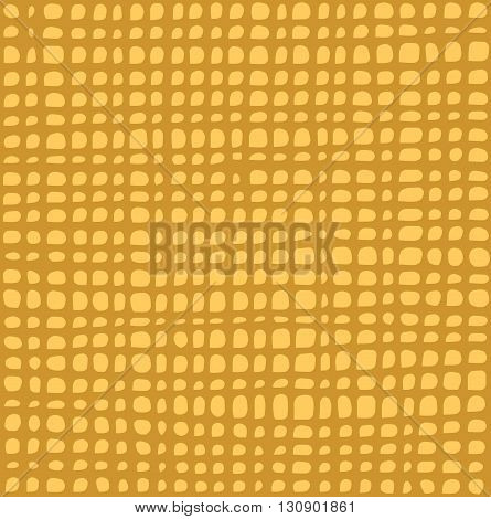 irregular grid tiled pattern in yellow over orange