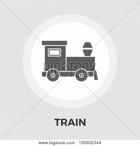 Train Icon Vector. Flat icon isolated on the white background. Editable EPS file. Vector illustration.