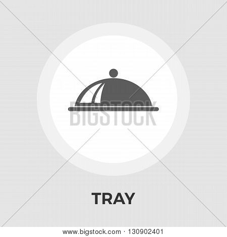 Tray Icon Vector. Flat icon isolated on the white background. Editable EPS file. Vector illustration.