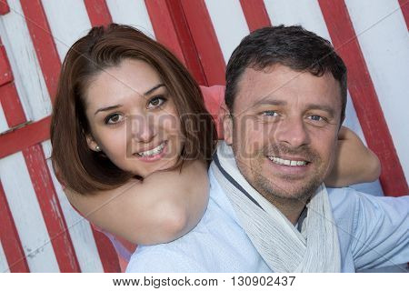 Portrait Of Man Giving Beautiful Woman Piggyback