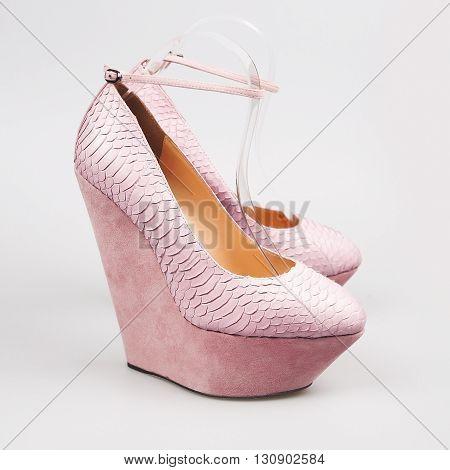 Woman Purple Shoe