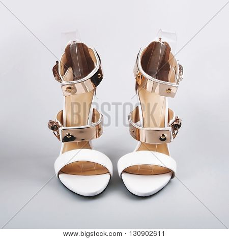 Woman Shoes Isolated On A White Background