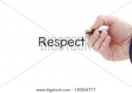 Respect text concept isolated over white background