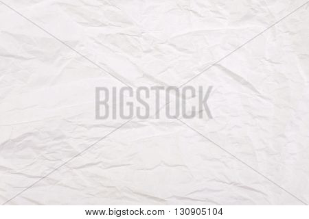 White crumpled paper background. Mock - up