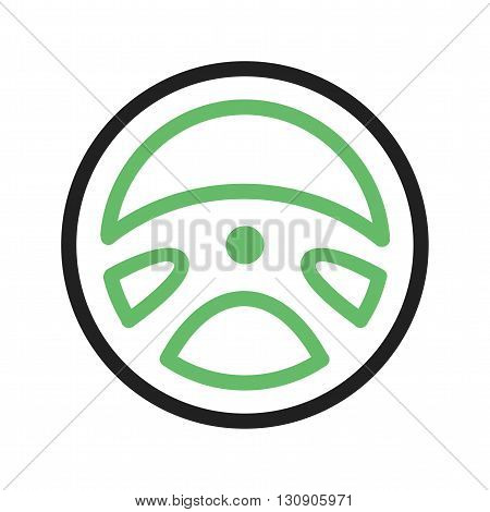 Wheel, steering, car icon vector image. Can also be used for car servicing. Suitable for use on web apps, mobile apps and print media.