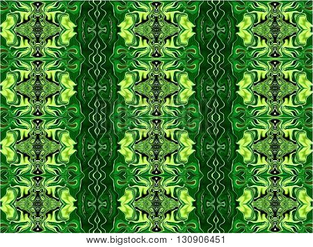 Oriental patterns - the language of the soul The picture shows the oriental patterns mainly green colors.