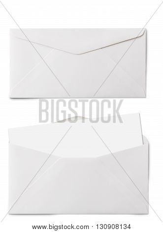 Long Envelope With Card With Clipping Path