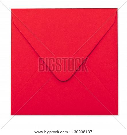 Red Envelope With Clipping Path