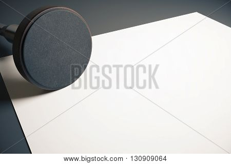 Empty Round Stamper