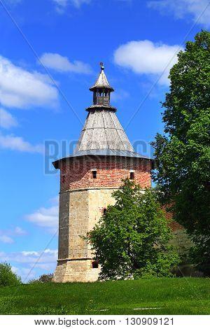 Ancient tower of Kremlin in Zaraysk Moscow region