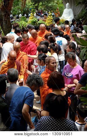 Asia Monks On Buddha's Birthday Celebration