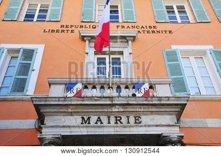 Frejus; France - april 16 2016 : the city hall