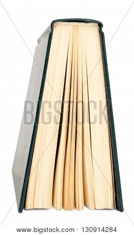 Book isolated on white background, close up view