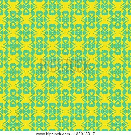 Seamless color pattern with abstract geometric design.