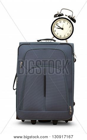 Large Gray Suitcase On Wheels