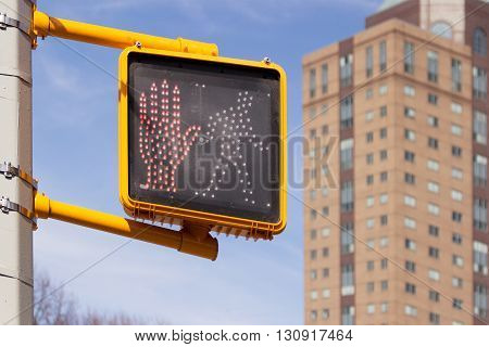 traffic lights in new york, hand and continuous human