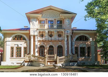 Pokrovskoye, Russia - May 27: This is aristocratic manor house of an old Russian noble family Bryanchaninovs May 27, 2013 in Pokrovskoye, Russia.