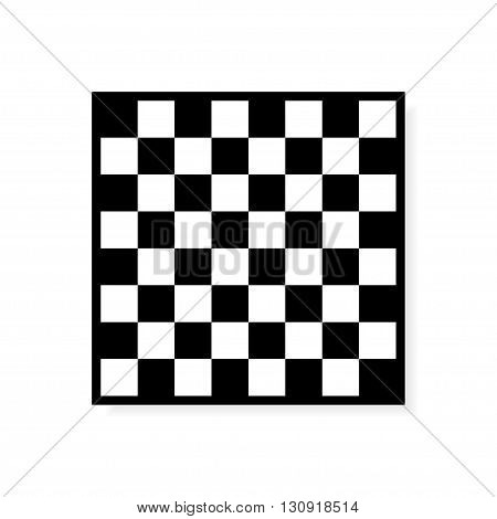 Vector Chess board icon. Black and White Squares